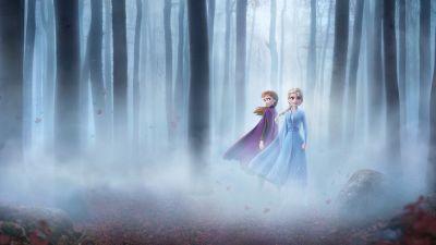 Frozen 2, Anna, Elsa, Enchanted Forest, 5K, 8K