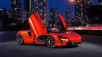 McLaren Artura, Hybrid sports car, 2021, 5K, 8K