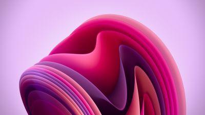 Windows 11, Flow, Light, Pink background