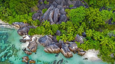 Beach, Seashore, Rocks, Aerial view, Drone photo, Landscape, 5K