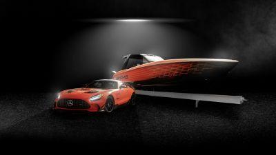 Mercedes-AMG GT Black Series, Super Sports Cars, 2021, Dark background, 5K, 8K