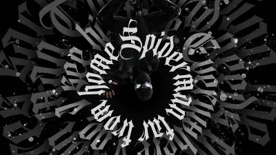 Spider-Man Noir, Spider-Man, Dark, Black background, Artwork, Digital Art