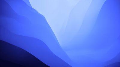 macOS Monterey, Stock, Blue, Light, Layers, 5K