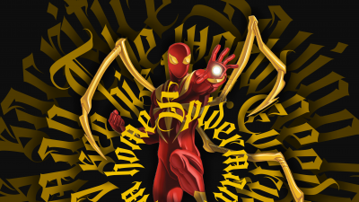 Iron Spider, Spider-Man, Artwork, Digital Art, Marvel Superheroes