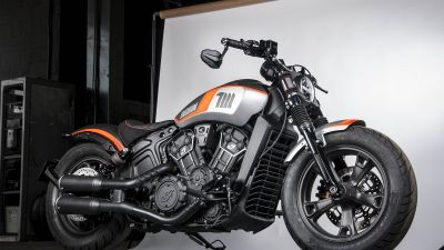 Indian Motorcycles Scout Bobber Sixty Neon, Tank Machine, Limited edition, 2021
