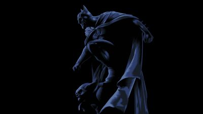 Batman, DC Superheroes, DC Comics, Black background, AMOLED, Dark Knight, 5K