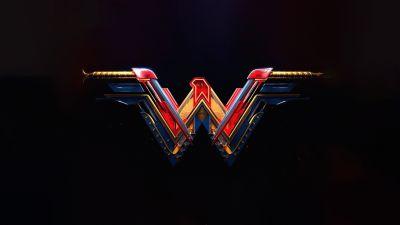 Wonder Woman, Black background, DC Superheroes, AMOLED