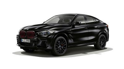 BMW X6 M50i Edition Black Vermilion, Limited edition, Black cars, White background, 5K, 8K, 2021