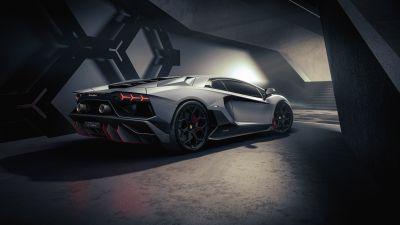 Lamborghini Aventador LP 780-4 Ultimae, Supercars, 2021, Dark, 5K