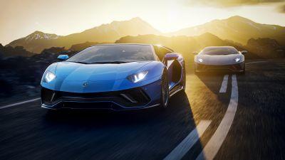 Lamborghini Aventador LP 780-4 Ultimae, Supercars, 2021, Racing cars, Road, Tarmac