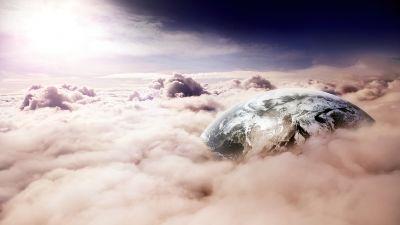 Earth, Clouds, Surreal, Star Trek, Digital composition