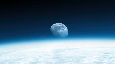 Moon, Horizon, Earth, International Space Station, Atmosphere, Astronomy