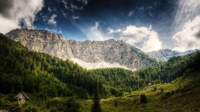 Landscape, Carinthia, Austria, Mountains, Forest, HDR