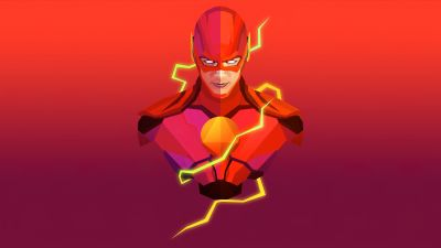 The Flash, Marvel Superheroes, Red background, Marvel Comics