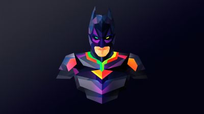 Batman, DC Superheroes, Colorful, Dark background, Minimal art