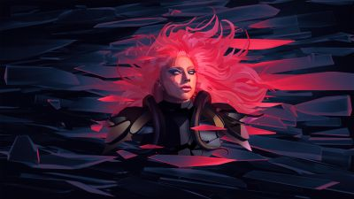 Lady Gaga, American singer, Artwork, Low poly