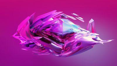 Candy, Pink background, Glass, Pink, Digital render