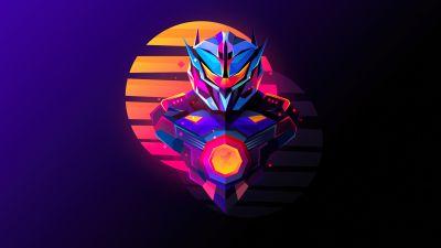 Jaeger, Pacific Rim, Dark background, Colorful