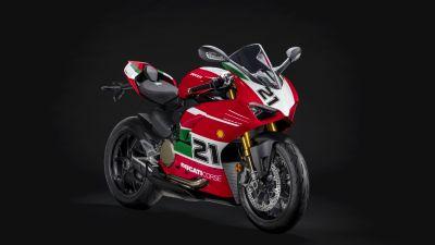 Ducati Panigale V2 Bayliss, Sports bikes, 5K, 2021, Black background, 8K