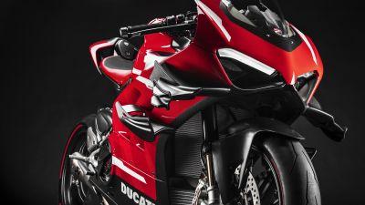 Ducati Superleggera V4, Diablo Supercorsa SP, Sports bikes, Black background, 2021