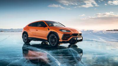Lamborghini Urus, Super Sports SUV, Glacier, 2021, 5K, 8K
