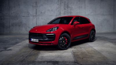 Porsche Macan GTS, 2021, Red cars