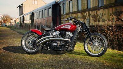 Indian Motorcycle Metz, Scout Bobber, Red Wings, 2021, 5K