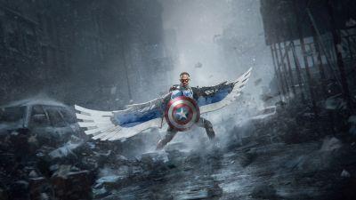 Captain America, Falcon, Shield, Marvel Comics, The Falcon and the Winter Soldier