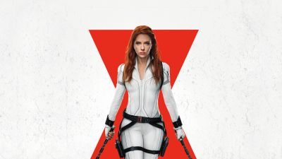Scarlett Johansson, Black Widow, White background, Marvel Superheroes, 2021, 5K, 8K