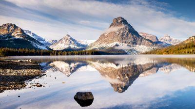 Lake, Mountains, Landscape, 5K