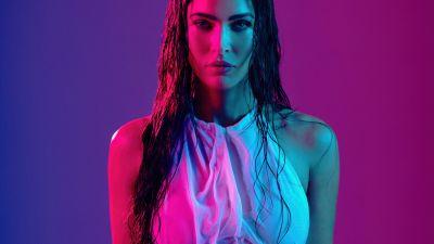 Megan Fox, 2021, Portrait, Neon, American actress