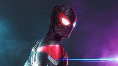 Miles Morales, Spider-Man, Colorful, Marvel Superheroes