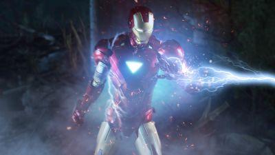 Iron Man, Marvel Superheroes, 5K, 8K