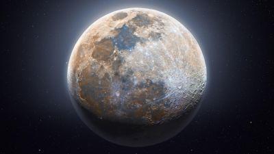 Moon, Astrophotography, Dark background, Composition, 5K, 8K
