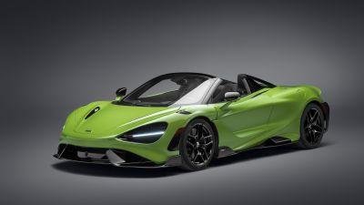 McLaren 765LT Spider, Supercars, Convertible, 2021, 5K