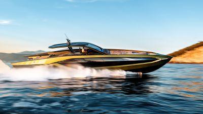 Tecnomar for Lamborghini 63, Superyacht, Motor yacht, Luxury yacht, 2021, 5K