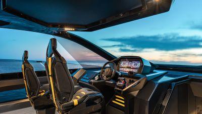Tecnomar for Lamborghini 63, Interior, Superyacht, Motor yacht, Luxury yacht, 2021, 5K