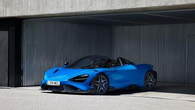 McLaren 765LT Spider, Convertible, Supercars, 2021
