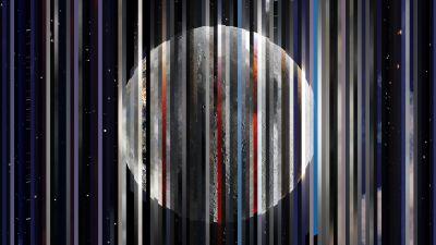 Moon, Astrophotography, Digital composition, Stars, 5K, 8K