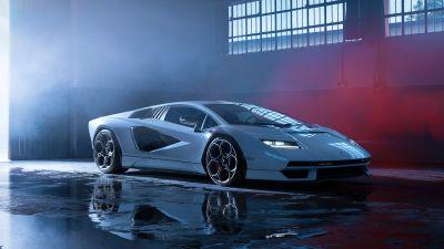 Lamborghini Countach LPI 800-4, Hybrid cars, Electric Sports cars, 2022, 5K