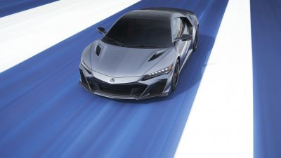 Acura NSX Type S, Electric Sports cars, Red background, Red cars, 2022, 5K, 8K