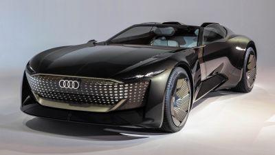Audi skysphere concept roadster, Electric cars, Futuristic, Concept cars, Luxury cars, 2021, 5K, 8K