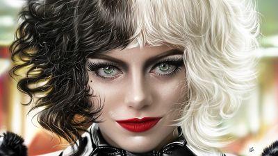 Cruella, Emma Stone, 2021 Movies, Artwork