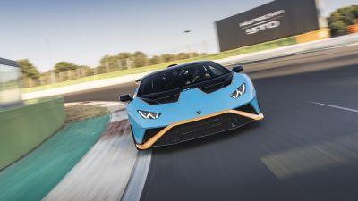 Lamborghini Huracán STO, Sports cars, 2021, 5K