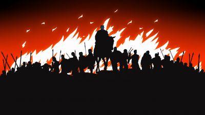 Night King, Game of Thrones, White Walkers, Silhouette, Dark