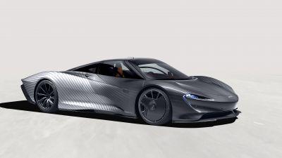 McLaren MSO Speedtail, 2021, White background, 5K