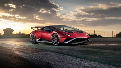 Lamborghini Huracán STO, Sports cars, 2021, 5K, 8K