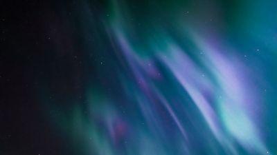 Aurora, Northern Lights, Night sky, Natural Phenomena, Stars, 5K