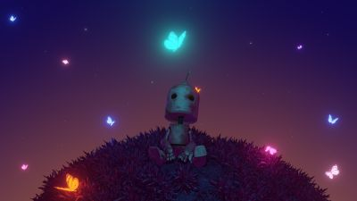 Alone, Lonely, Loneliness, Dream, Planet, Robot, Butterflies, Glowing