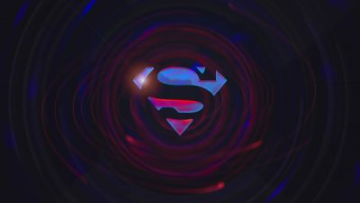 Superman, Dark background, DC Comics, DC Superheroes